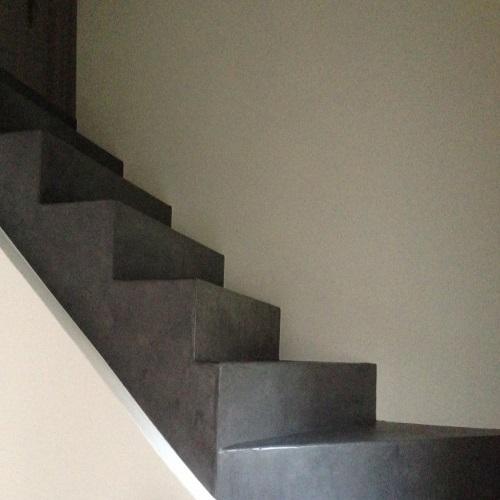 Escaliers en béton ciré: matieres-et-design