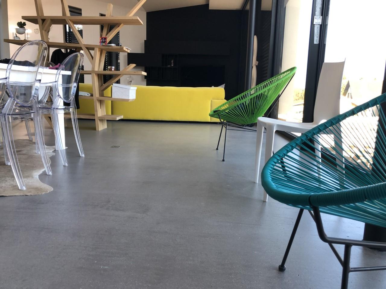Réalisation sols architecturaux résine béton ciré à Mulhouse : matieres-et-design