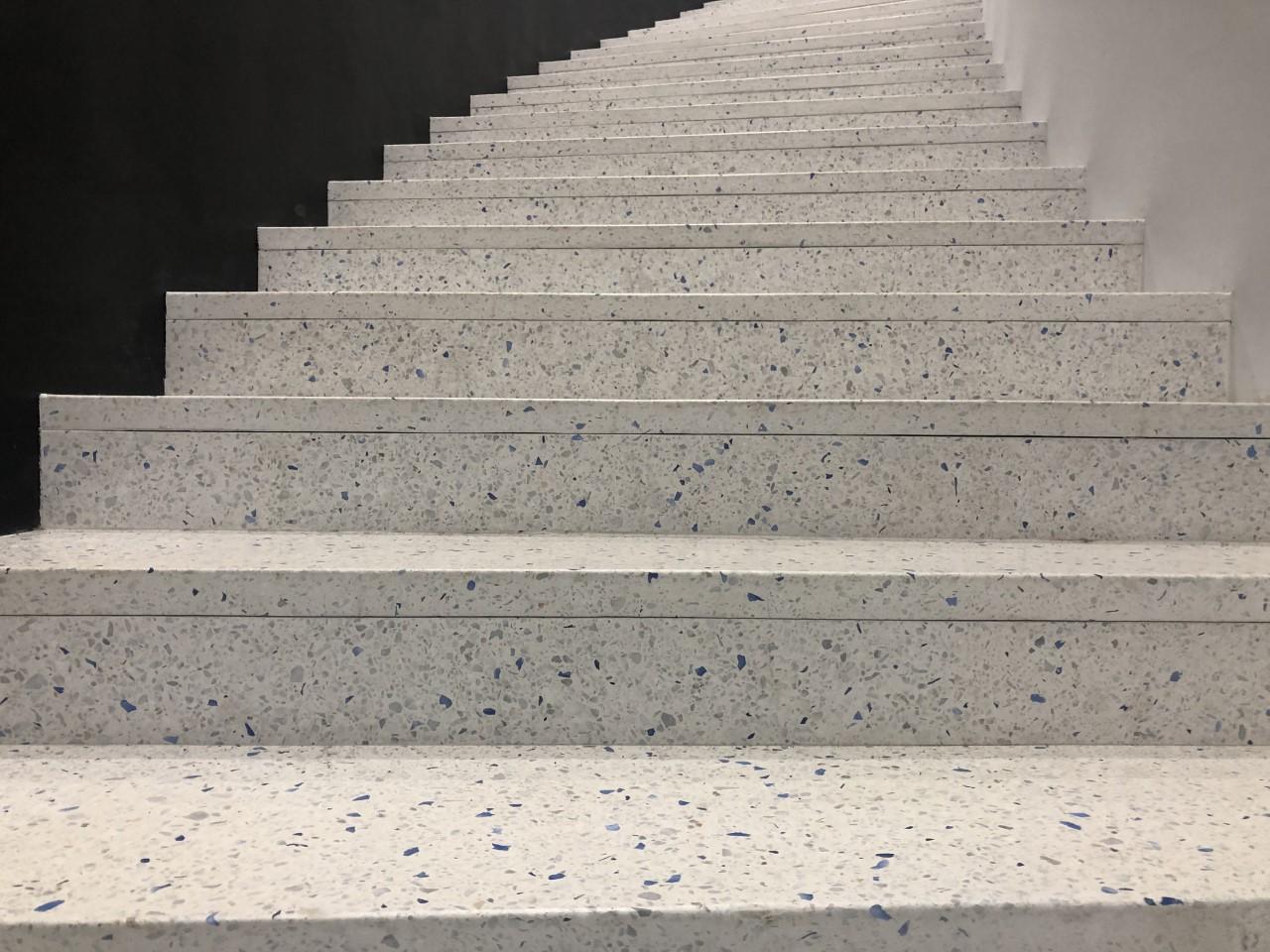 Escalier avec sol Terrazzo à Mulhouse: Matière & Design